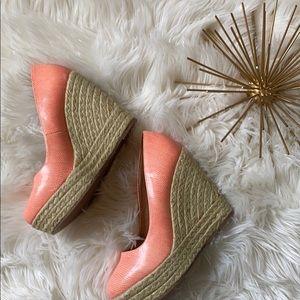 Coral Shoe Dazzle Wedge